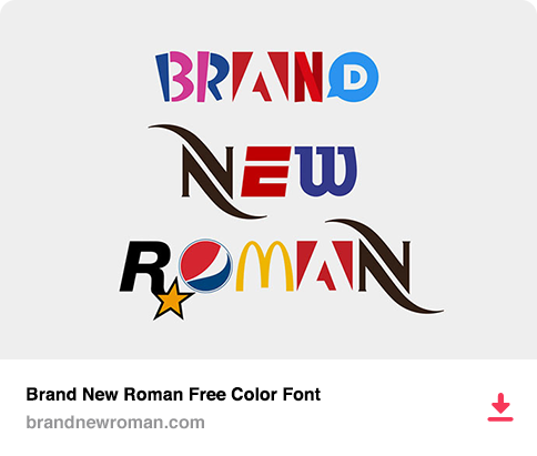 Brand New Roman Free Color Font