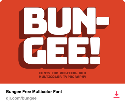 Bungee Free Multicolor Font